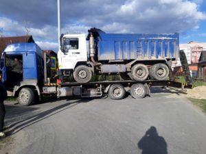 эвакуация грузовой техники